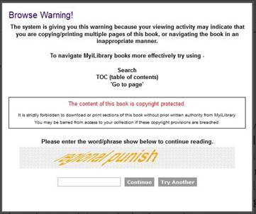 MyiLibrary_warning